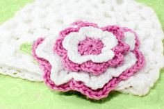 Candy Striped Crochet Flower