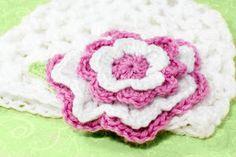 Candy Striped Crochet Flower