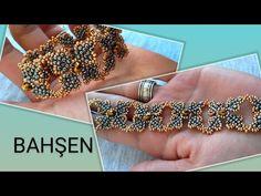 şık ve gözalıcı /stylish bracelet made of beads стильный браслет из бисера - Boncuktan abiye bileklik.şık ve gözalıcı /stylish bracelet made of beads… Sie sind an der ric - Making Bracelets With Beads, Love Bracelets, Bracelet Making, Silver Bangle Bracelets, Seed Bead Bracelets, Beaded Bracelet Patterns, Embroidery Bracelets, Beaded Jewelry Designs, Bijoux Diy