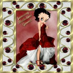 January - Betty Boop Betty Boop Song, Betty Boop Cartoon, Animated Cartoon Characters, Famous Cartoons, Birth Month, Alphabet And Numbers, Birthday Images, American Artists, Special Day