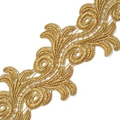 Amazon.com: Metallic GOLD Lace Trim for Bridal, Costume or Jewelry, Crafts and Sewing, 4 Inch by 1 Yard, LP-4659
