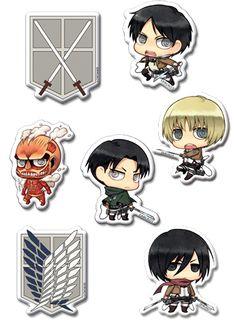 Attack On Titan 4 Emblem Licensed Sticker Set!