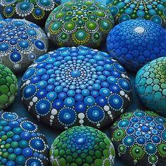 Cool Tone Mandala Stone Collection