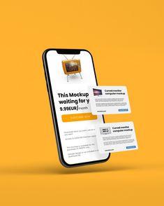 Computer Mockup, Phone Mockup, Graphic Design Brochure, Food Graphic Design, Design Plat, Ad Design, Cover Design, Smartphone, Poster Design App