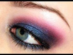 this is very close to the makeup I wore new years eve. The edge was red instead of pink, but that's the only real difference.