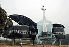 Glass Piano House in China