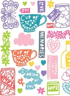 Too many colors but love the cut out look... print & pattern: SURTEX 2012 - lemon ribbon