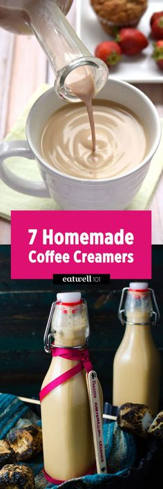 Check these homemade coffee creamer recipes and be your own barista today! : Check these homemade coffee creamer recipes and be your own barista today! Homemade Coffee Creamer, Coffee Creamer Recipe, Iced Coffee, Coffee Drinks, Coffee Syrups, Coffee Life, Iced Latte, Coffee Shop, Yummy Drinks