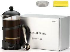 SUNKO French Press Espresso Cappuccino Coffee Maker -- Find out more about the…