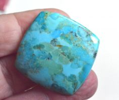 43ct 33mm Turquoise cabochon from Kingman mine Arizona  NATURAL TURQUOISE  GEMSTONE  FROM GEMROCKAUCTIONS.COM