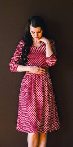 Check out our cute modest Lolly Dress!