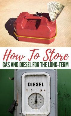 How To Store Gas And Diesel For The Long-Term. Gas and diesel is only good for a bout 1 year, 2 years at the most. See how to store it correctly.