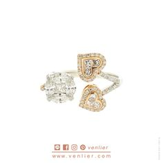 The 2 Heart-Rose Gold & Round Illusion Diamond Ring MARQUISE/ PRINCESS CUT DIAMONDS IN ILLUSION-SETTING FORMING THE OUTLOOK OF ROUND 9 mm. DIAMETER WHICH SILULATES TO THE DIAMOND SIZE OF 2.50 CTS WITH 4 LITTLE DIAMONDS ON TOP OF THE PRONGS.