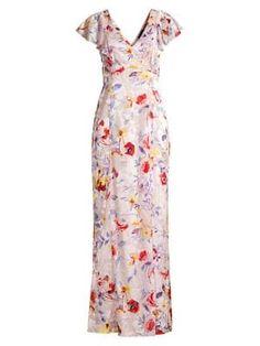 Parker Black Lielle Floral Gown In Tearose Garden Mob Dresses, Formal Dresses For Women, Parker Black, Floral Gown, Maid Dress, Ruffles, Gowns, Summer Dresses, How To Wear