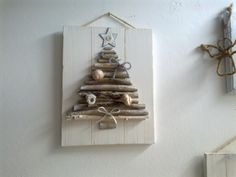 My works - Albero di Natale by Natascia Ferrini Natural Christmas, Christmas Makes, Diy Christmas Tree, Christmas Goodies, Rustic Christmas, Christmas Projects, Christmas Holidays, Xmas Tree, Handmade Christmas Decorations