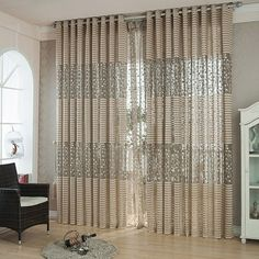 curtains for Window cortinas para sala de luxo translucids Curtains for Living Room curtains for Bedroom Kitchen Price history. Category: Home & Garden. Subcategory: Home Textile. Tulle Curtains, Home Curtains, Curtains For Sale, Curtains Living, Curtains Direct, Brown Curtains, Curtain For Door Window, Window Drapes, Room Window