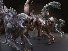 Alien Zerg game spider xenomorph monster beast mutant Scorpio creature dragon horror Insect