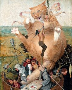 """Hieronimus Bosch, """"The Ship of April Fools"""""""