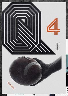 Gridiron typeface by Non-Format , via Behance
