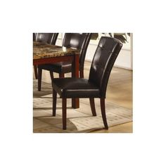 Kings Brand Set of 2 Black Parson Chairs With Cherry Finish Solid Wood Legs by Kings Brand Furniture. $119.99. Save 37% Off!