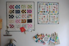 A wall of mini quilts | by quarter inch mark/ Chase