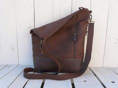 Unisex totes  Brown canvas tote bag  Crossbody bag  by SKmodell