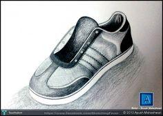 Ayush Maheshwari Artwork , Object Drawing, Shoe - Sketching by Ayush Maheshwari in Sketching Fever (Pencil Work) at touchtalent