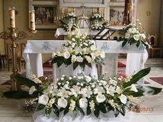 Imagen relacionada Altar Flowers, Church Flowers, Altar Decorations, Centerpieces, Large Flower Arrangements, Calla Lily, My Flower, Holiday Decor, Art Floral