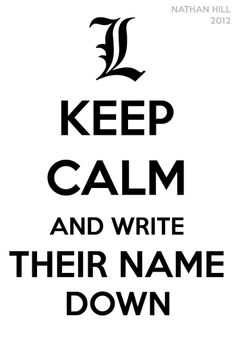 """do realize but it was L that was against """"writing down their names!"""" it should be an apple at the top!!!"""