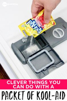 Kool-Aid isn't JUST a tasty drink! It turns out that there are plenty of ways to use Kool-Aid packets, besides simply using it as a drink mix. From cleaning to dyeing to crafting, those little packets of Kool-Aid are handy to keep around!
