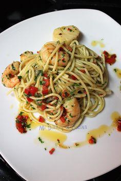 Mi Diario de Cocina | Pasta with shrimp and scallops | http://www.midiariodecocina.com/en/