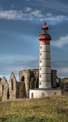 Pointe Saint-Mathieu Lighthouse, Finistère- by joelremy222