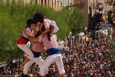 Castellers de Tarragona. Vista des de l'aleta.