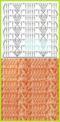 Crochet blanket or scarf with chart or diagram