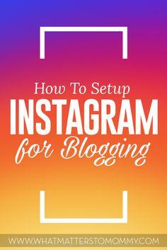 Instagram for blogging