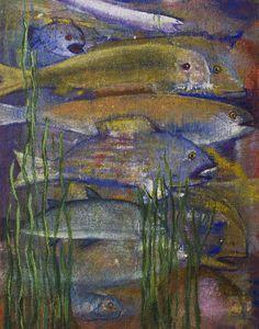 fisk i vassen Art, Painting