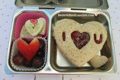 Linzer heart sandwich, Valentines lunch