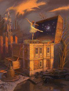 Сюрреалистические рисунки московского художника Андрея Фереза