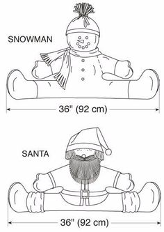 Kwik coser 3279 Snowman y Santa proyecto Stoppers por ucanmakethisKwik Sew Crafts Sewing Pattern 3279 - for Christmas (O/S) Thumbnail 2 Christmas Sewing, Felt Christmas, Christmas Projects, Christmas And New Year, Christmas Ornaments, Sewing Crafts, Sewing Projects, Draft Stopper, Kwik Sew