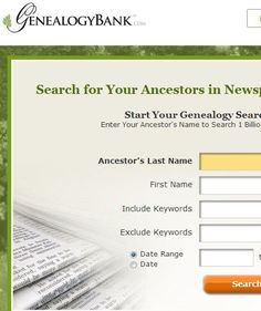 Genealogy Bank - love this site!!