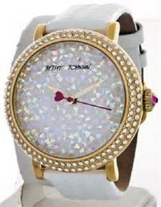 Betsey Johnson Women's Brown Crystal Dial Leopard Leather Strap BJ00426 03 $135 | eBay