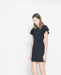 ZARA - NEW COLLECTION - DRESS WITH FRILLY SLEEVES
