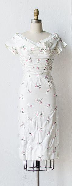 vintage 1950s white Emma Domb wiggle dress