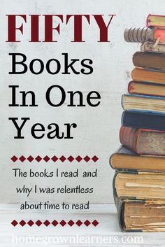 50 books a year is no challenge for me, but this article inspires me to broaden the variety of what I read.