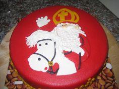 Sinterklaas met paard - taartje