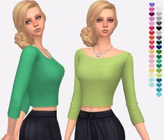 A re-texture of the movie hangout stuff crop top. A more casual look that can be worn for mostly every category.