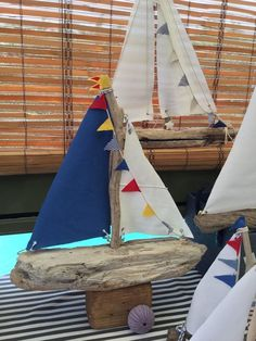 Sailboat, driftwood, driftwood yacht, boat, coastal decor, wooden boat, gift for…