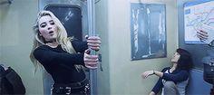 Sabrina Carpenter in her new  Music video Thumbs ❤  twiddlin' them thumbs