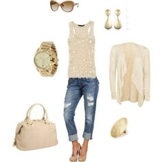 Creams and Denim for spring/summer...lovely