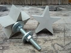 +Möbelknauf+Beton+Stern+Möbelgriff+Knauf+Griff+von+Tonnenweise-Glück+auf+DaWanda.com